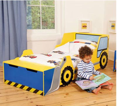 Digger Shaped Bed For Toddlers Images
