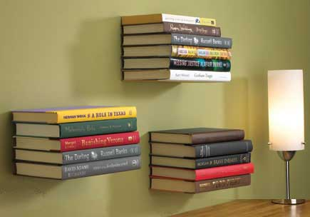 Invisible Bookshelf Where Your Books Appear To Float In Mid Air